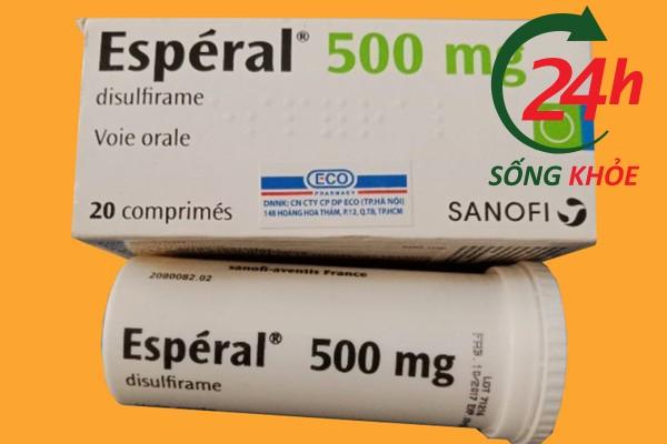 Dùng Esperal 500mg quá liều có sao không? Cách xử trí?