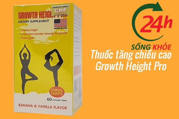 Thuốc tăng chiều cao cho trẻ em Growth Height Pro
