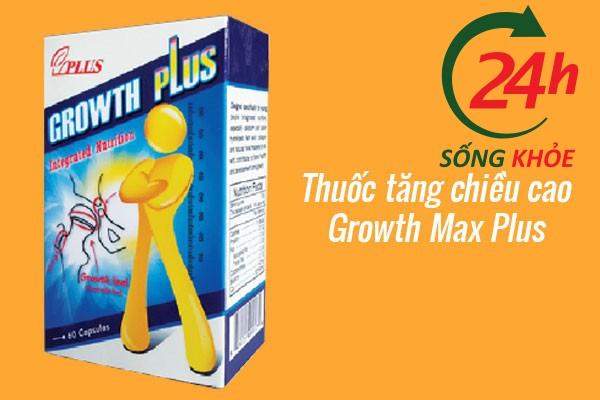 Thuốc canxi tăng chiều cao Growth Max Plus cho thanh niên