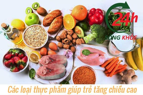 Sử dụng các loại thức ăn bổ dưỡng giúp tăng chiều cao