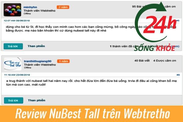 Review thuốc tăng chiều cao NuBest Tall Webtretho