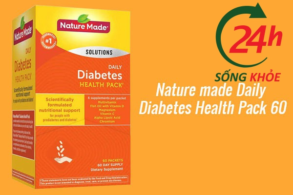 Nature made Daily Diabetes Health Pack 60