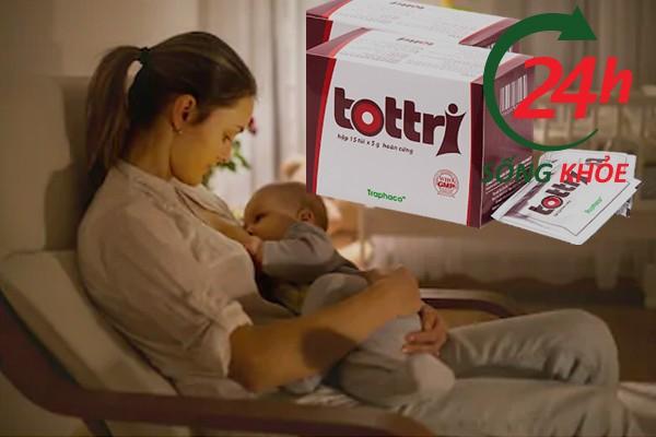 Thuốc Tottricó dùng được cho phụ nữ cho con bú không?