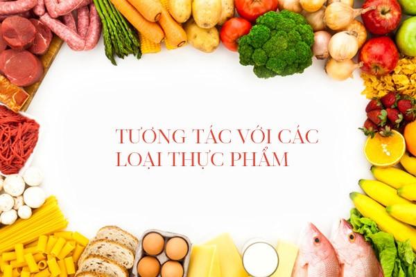 Plaquenil còn tương tác với một số thực phẩm