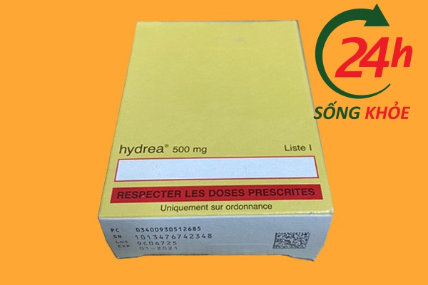 Hình ảnh: Mặt sau của vỏ thuốc Hydrea 500mg