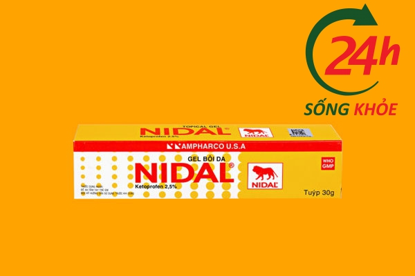 Thuốc Nidal Gel 30g