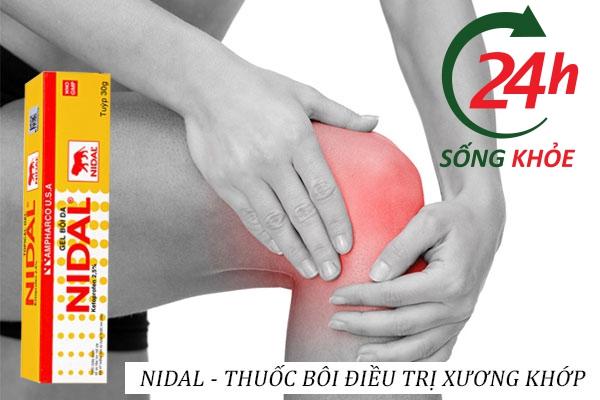 Thuốc Nidal Gel điều trị xương khớp