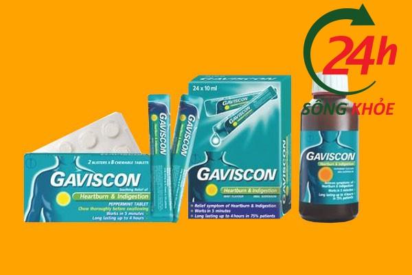 Thuốc điều trị trào ngược dạ dày Gaviscon