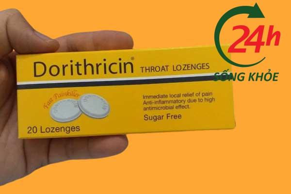 Cách dùng thuốc ngậm ho Dorithricin