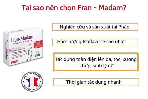Vì sao nên lựa chọn Fran - Madam?