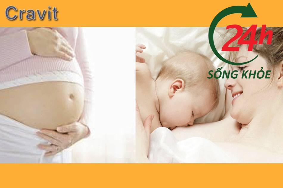 Cân nhắc việc sử dụng thuốc cravit với phụ nữ có thai và cho con bú
