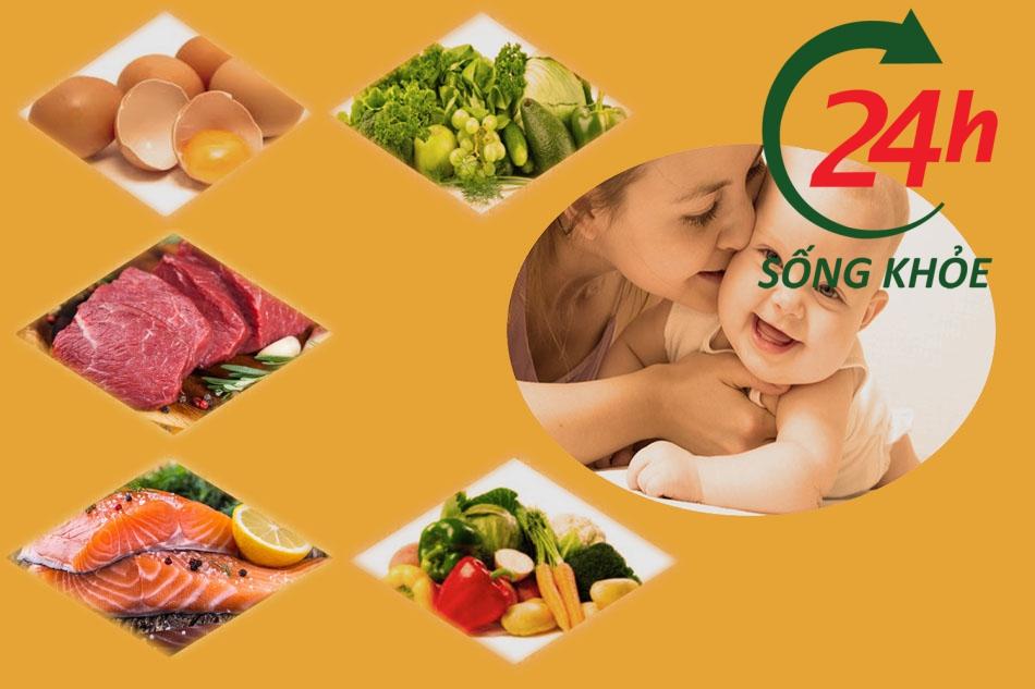Chế độ ăn uống hợp lý cân bằng cho mẹ đang cho con bú