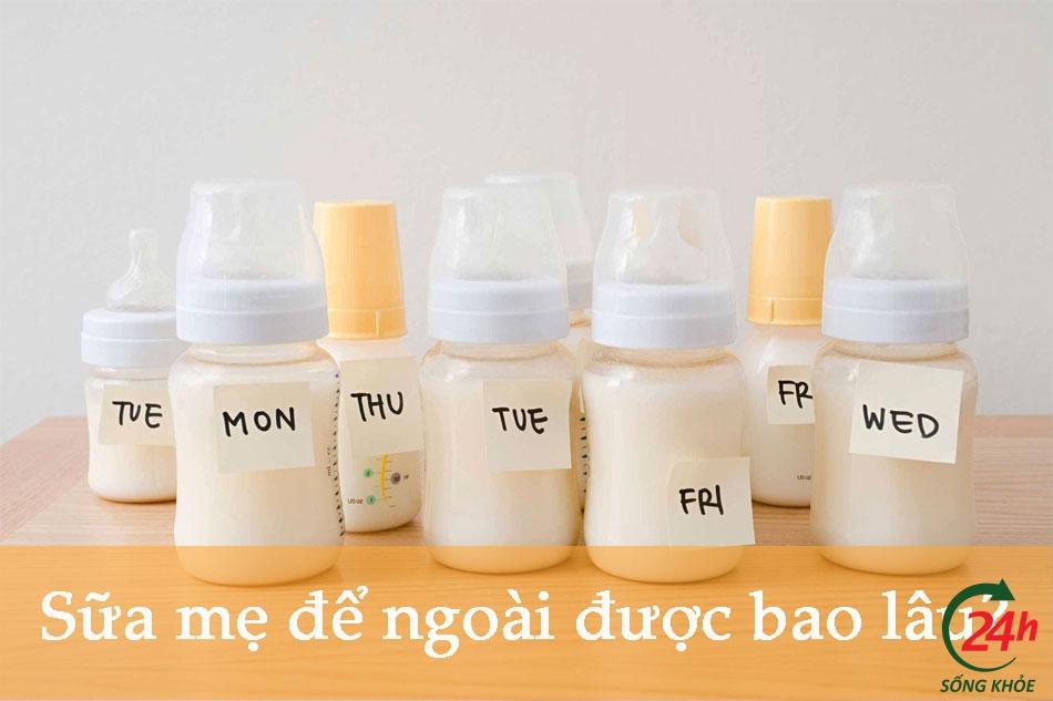 Sữa mẹ để được bao lâu ngoài không khí