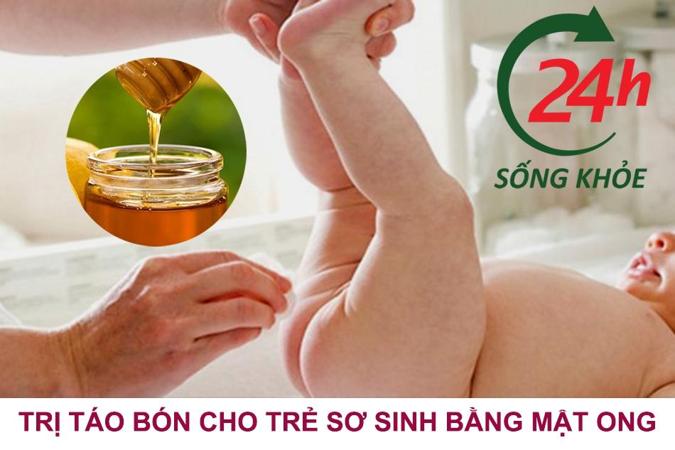Trị táo bón cho trẻ sơ sinh bằng mật ong?