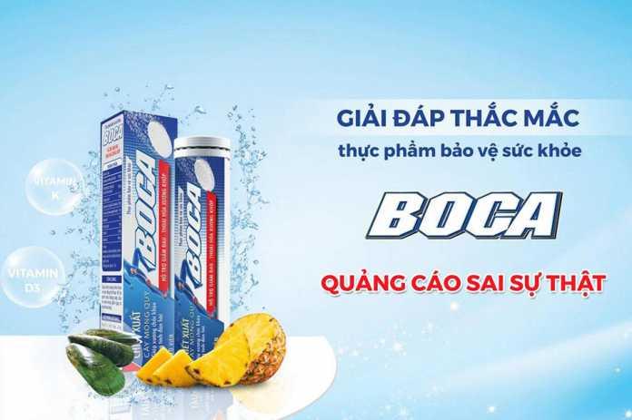 Boca quảng cáo sai sự thật có đúng như vậy không?