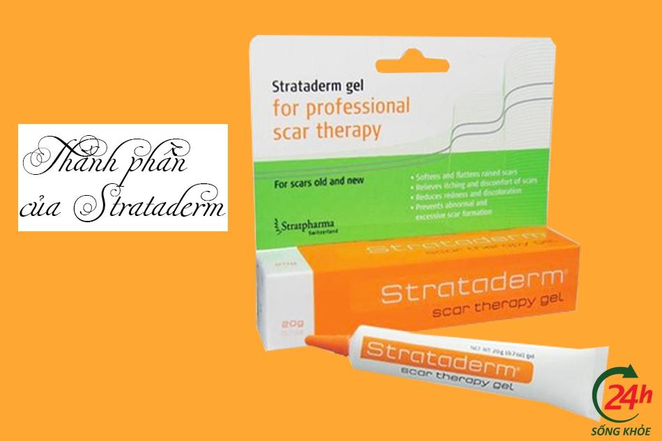 Thành phần của thuốc trị sẹo Strataderm