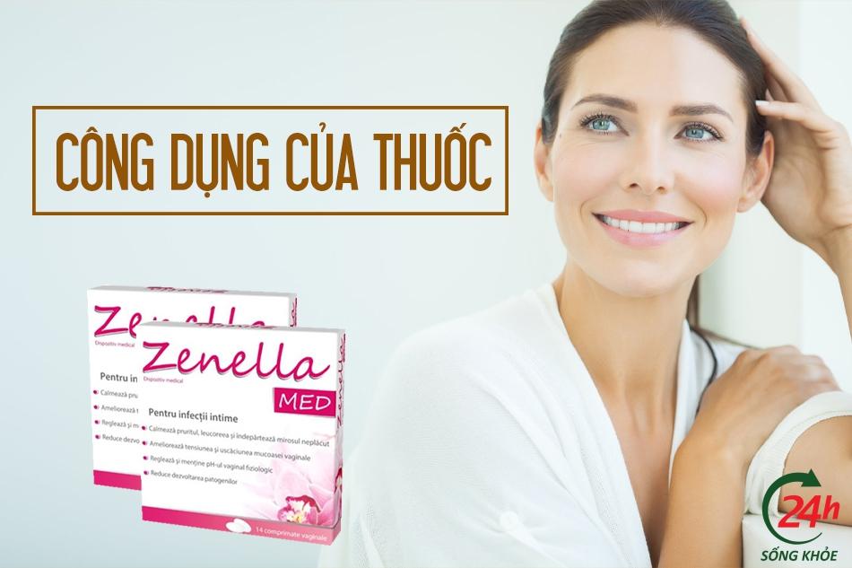 Công dụng của thuốc đặt Zenella Med