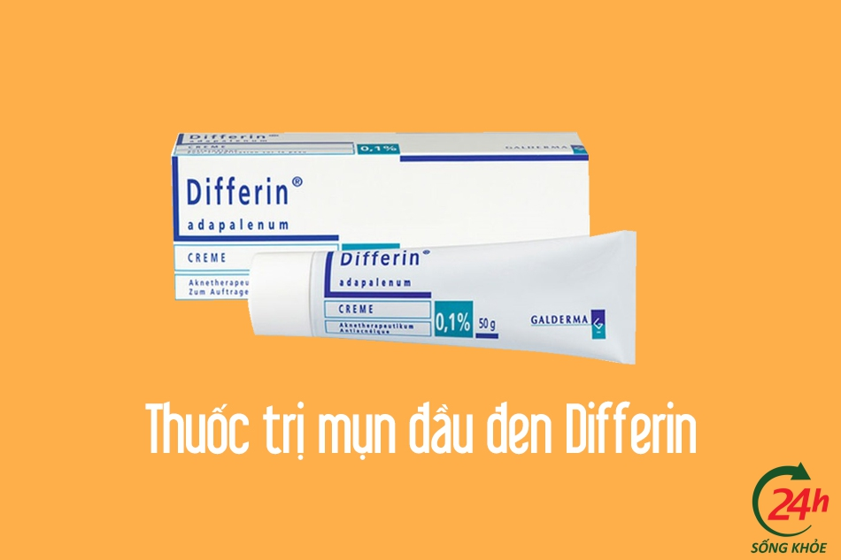 Thuốc trị mụn đầu đen Differin