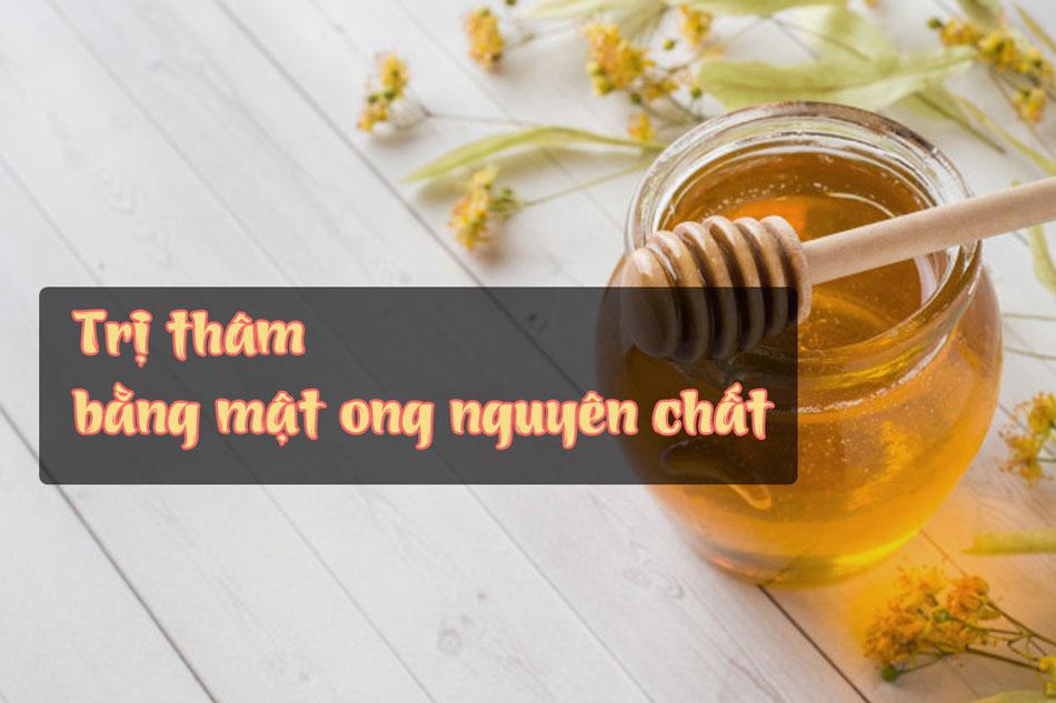 Dùng mật ong nguyên chất trị mụn thâm
