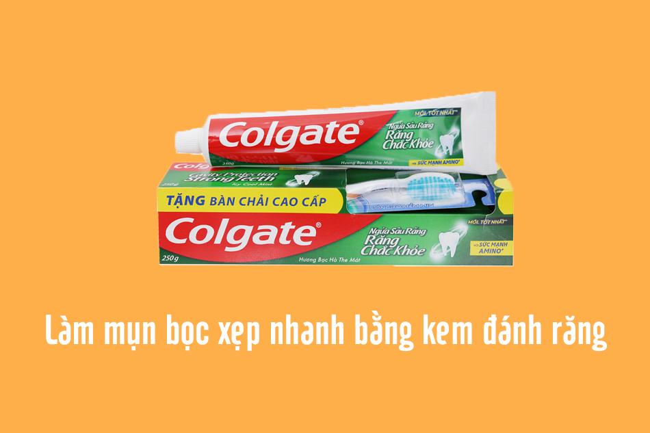 Mẹo sử dụng kem đánh răng để xử lý mụn bọc sưng đỏ