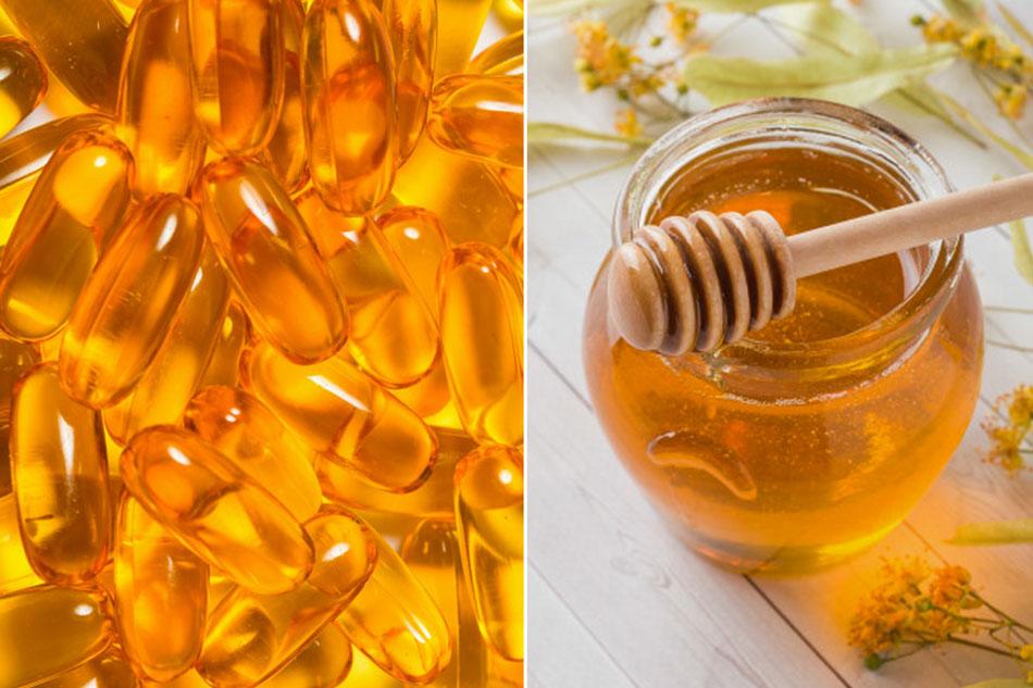Đắp mặt nạ Vitamin E và mật ong