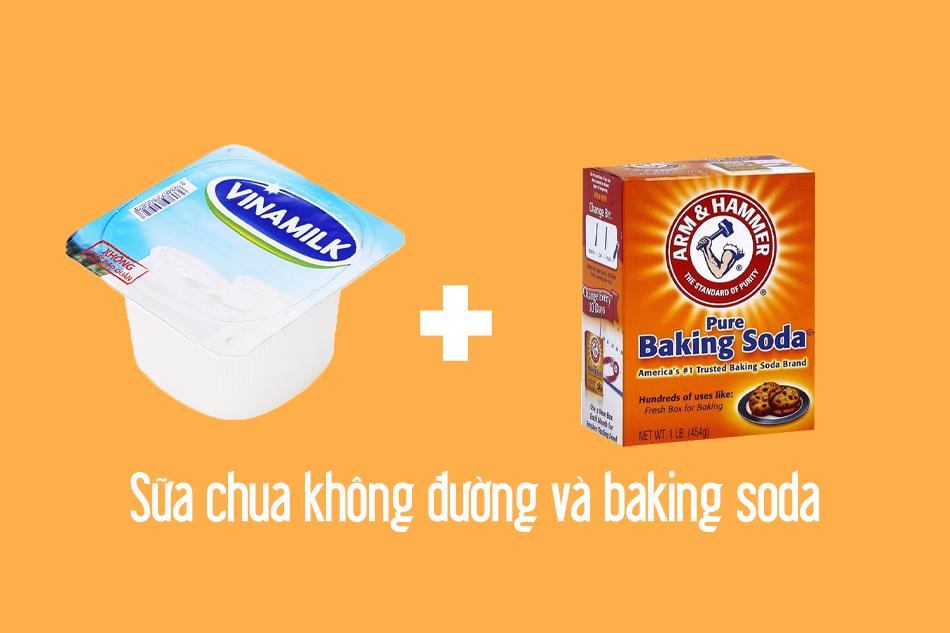 Công thức Baking soda và sữa chua không đường