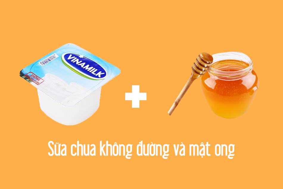 Trị mụn bằng sữa chua không đường và mật ong