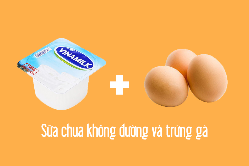 Công thức trị mụn kết hợp sữa chua không đường và trứng gà