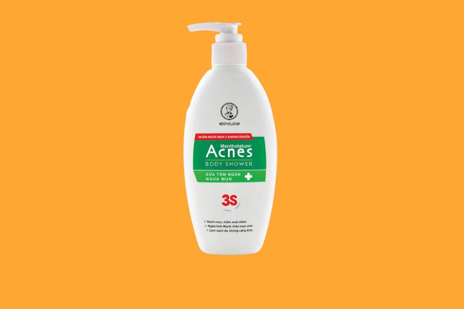 Sữa tắm trị mụn lưng Acnes