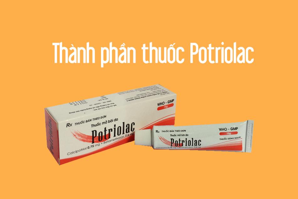Thành phần trong thuốc mỡ bôi da Potrilac