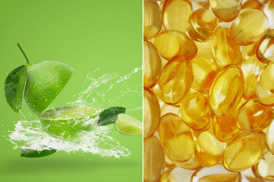 Trị thâm bằng vitamin E cùng nước cốt chanh