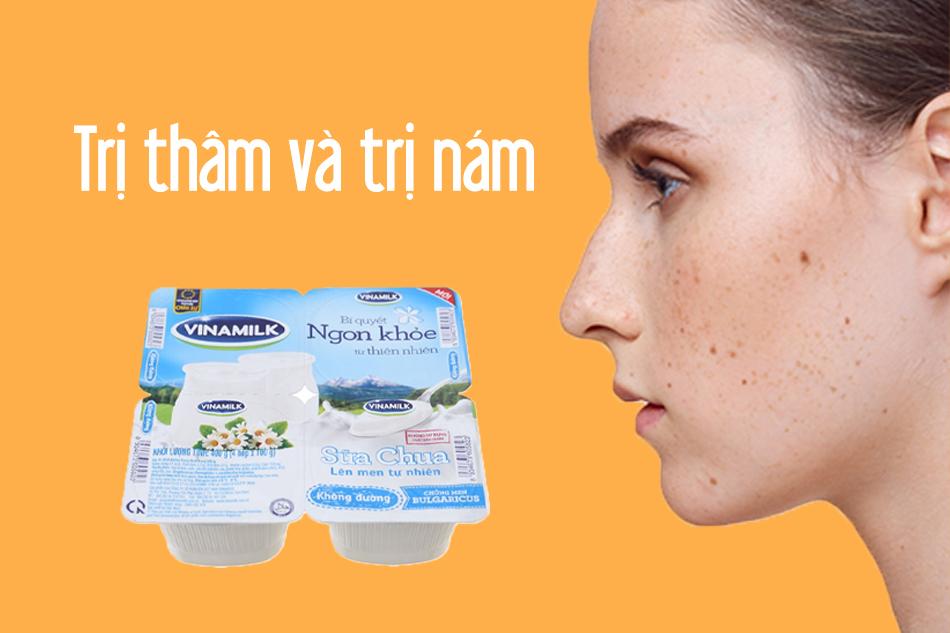 Sữa chua không đường trị nám, trị thâm