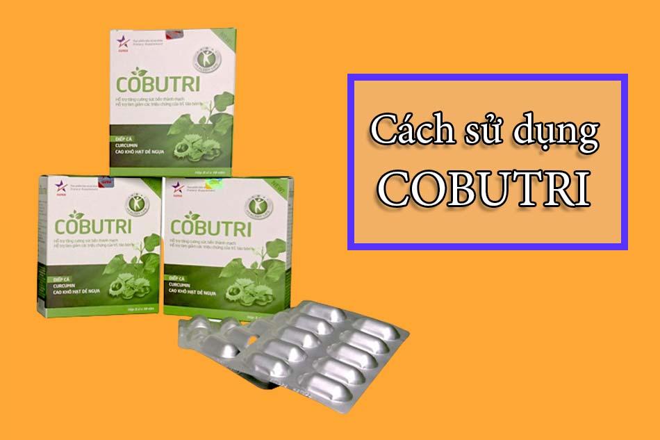 Cách sử dụng - liều dùng Cobutri