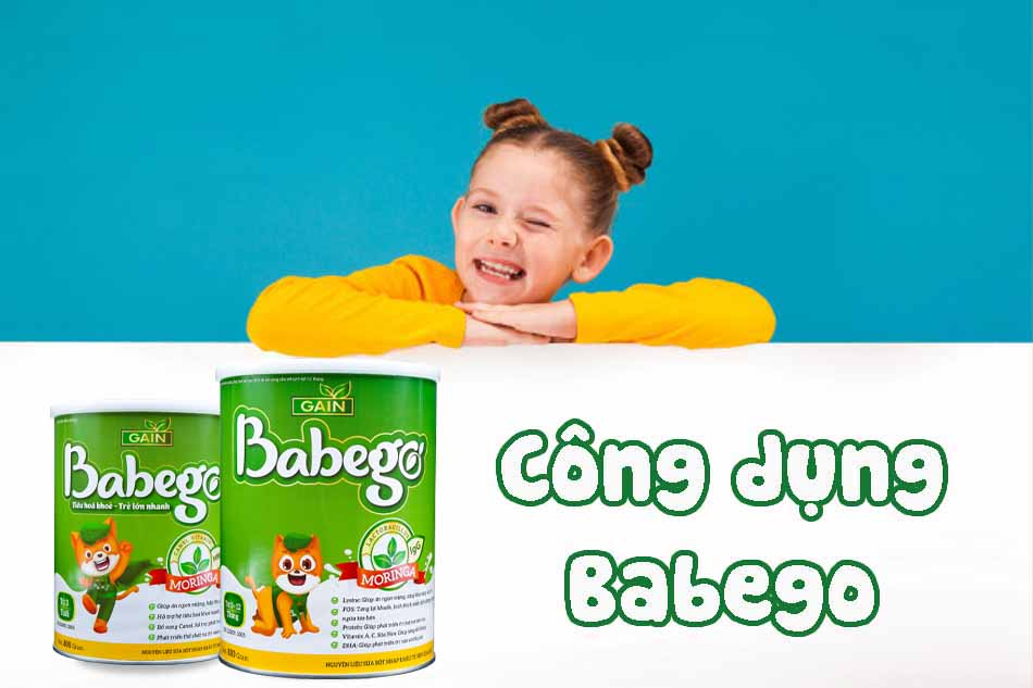 Công dụng của sữa chùm ngây Babego