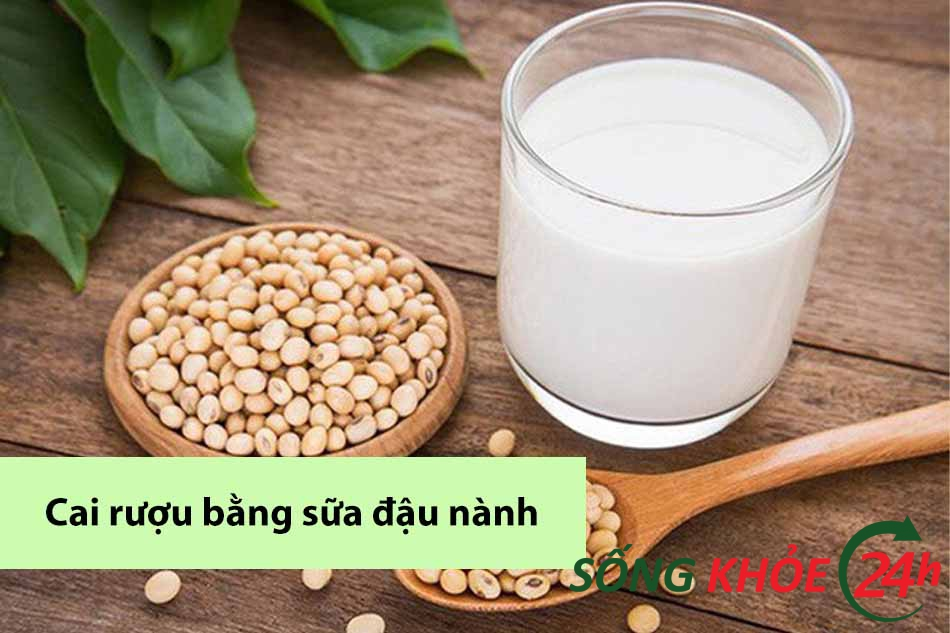 Cai nghiện rượu bằng sữa đậu nành