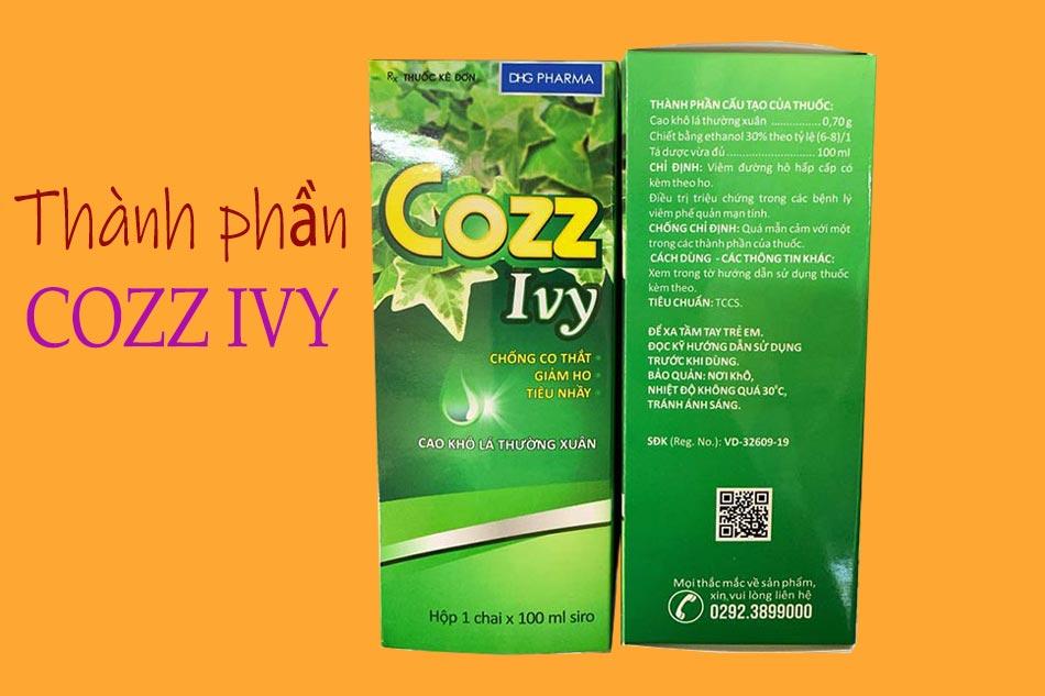 Thành phần Cozz Ivy