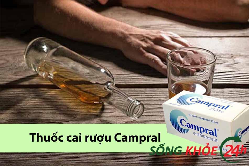 Viên uống cai nghiện rượu Campral (Acamprosate)