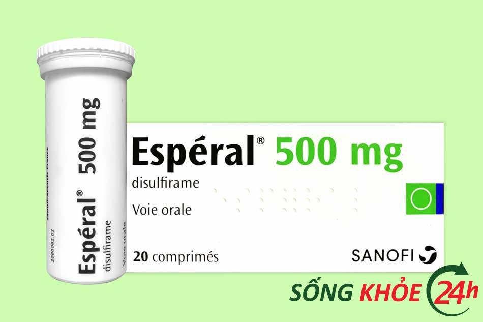 Thuốc cai nghiện rượu Esperal 500mg