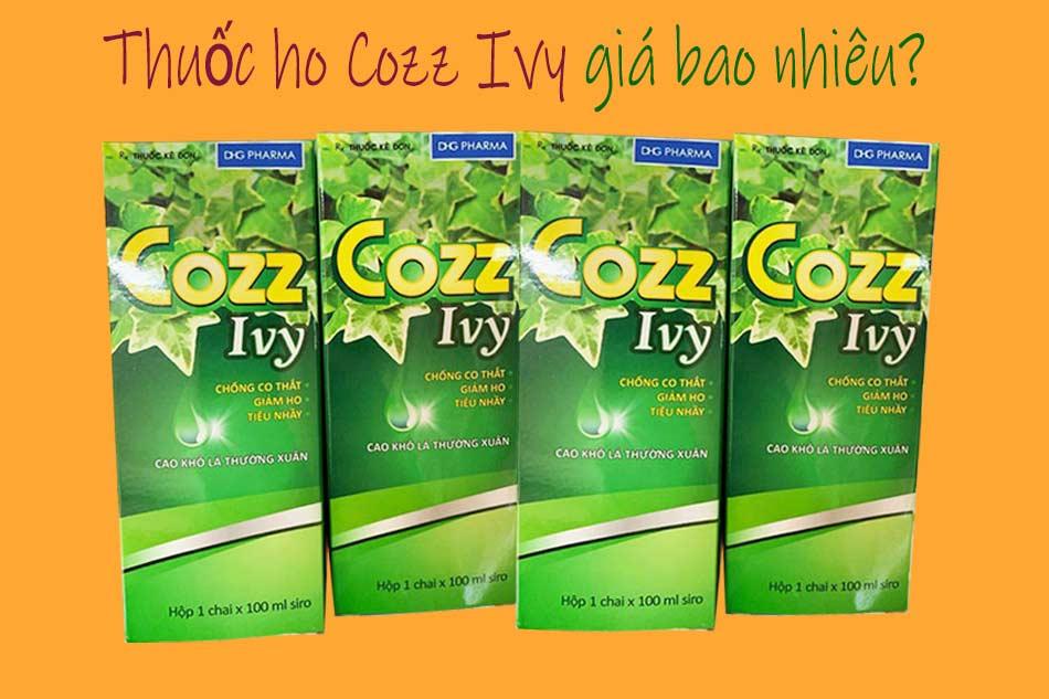 Thuốc ho Cozz Ivy giá bao nhiêu?