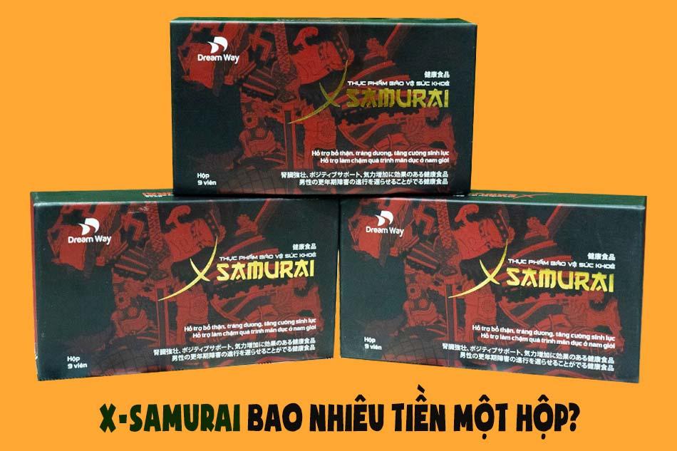 X-Samurai bao nhiêu tiền một hộp?
