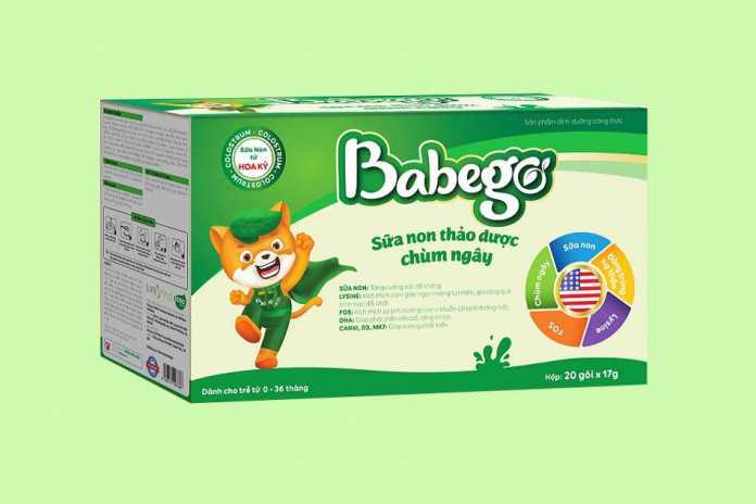 Sản phẩm sữa non thảo dược Babego