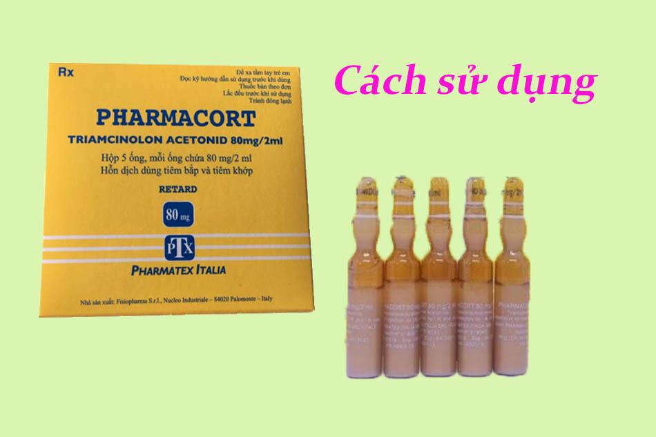 Liều dùng - cách dùng Pharmacort