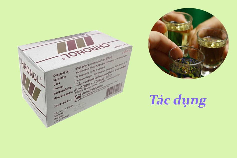 Tác dụng của thuốc Chronol 500mg