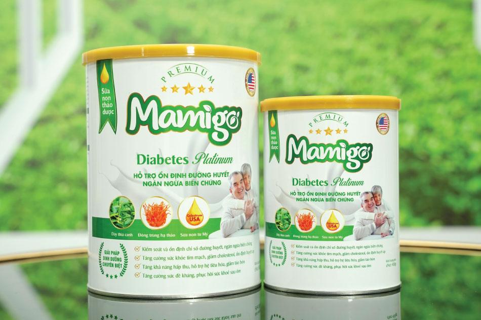 Sữa tiểu đường thảo dược Mamigo Diabetes Platinum - giải pháp đột phá hỗ trợ điều trị bệnh tiểu đường